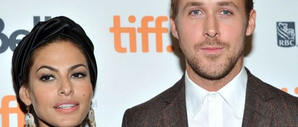 Actors Eva Mendes and Ryan Gosling attend 'The Place Beyond The Pines' premiere during the 2012 Toronto International Film Festival at Princess of Wales Theatre on September 7, 2012 in Toronto, Canada