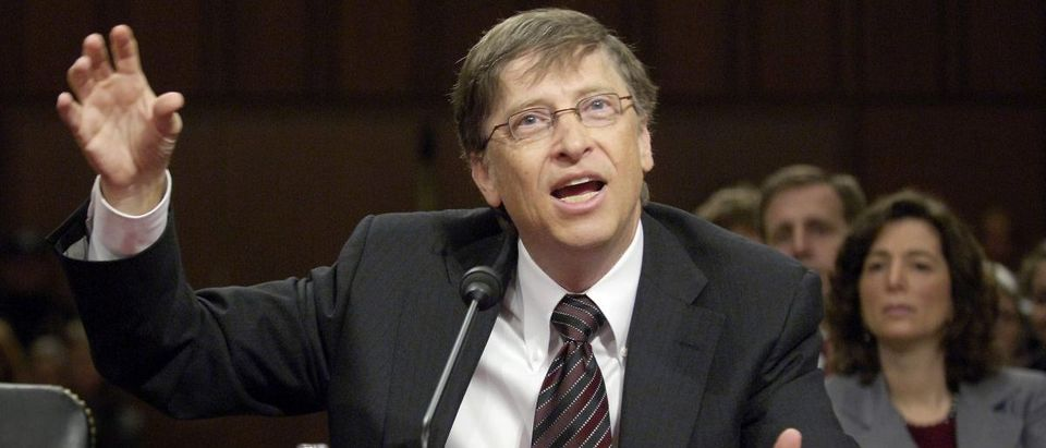 Microsoft Chairman Bill Gates addresses American competitiveness at a hearing of the Senate Health, Education, Labor and Pensions Committee on Capitol Hill Washington