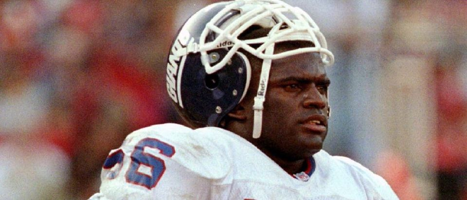 File image of former New York Giant Lawrence Taylor in San Francisco