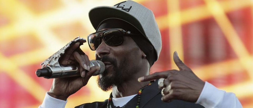 Snoop Dogg performs during the H2O Music Festival at Los Angeles State Historic Park in Los Angeles