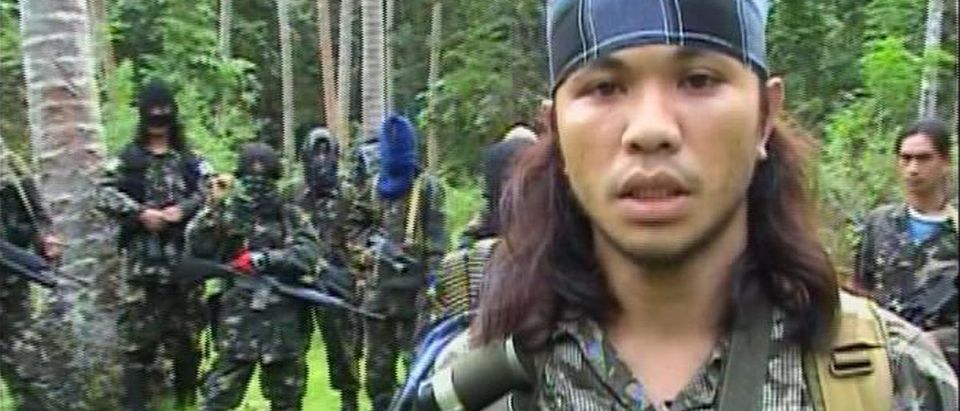 Video grab of an Abu Sayyaf rebel