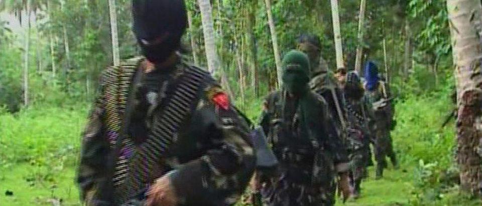 Video grab of Abu Sayyaf rebels