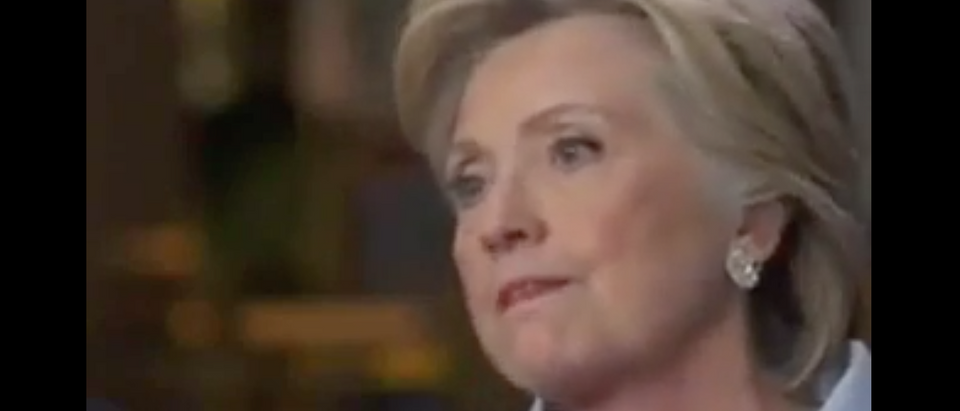 "Hillary Clinton interviewed on ""ABC News World Tonight,"" Sept. 6, 2016. (Youtube screen grab)"