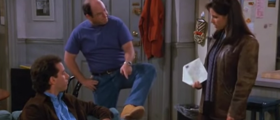 George wears Timberlands to date a girl because they make him two inches taller (YouTube Screenshot/'Seinfeld')