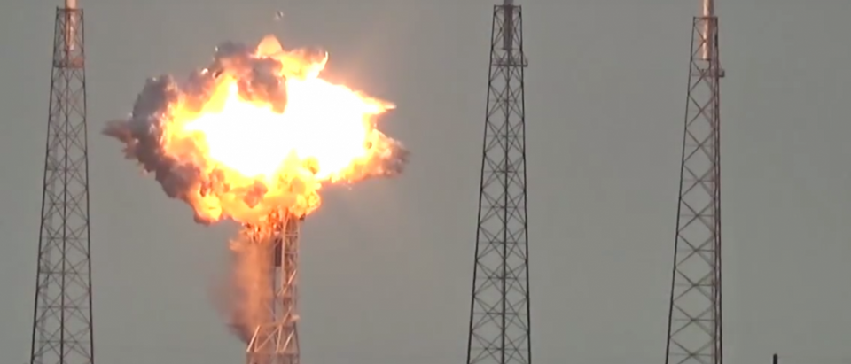 SpaceX Falcon 9 rocket explodes on launchpad