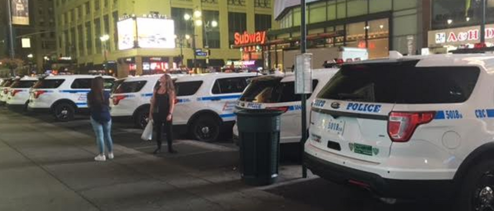 NYPD lines street after bomb blast
