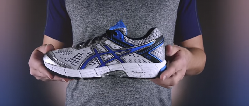 This ASICS running shoe is half off (YouTube screenshot)