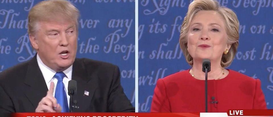 Donald Trump, Hillary Clinton (MSNBC/Screen shot)