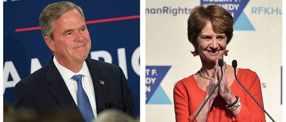 Jeb Bush, Kathleen Kennedy Townsend (Getty Images)