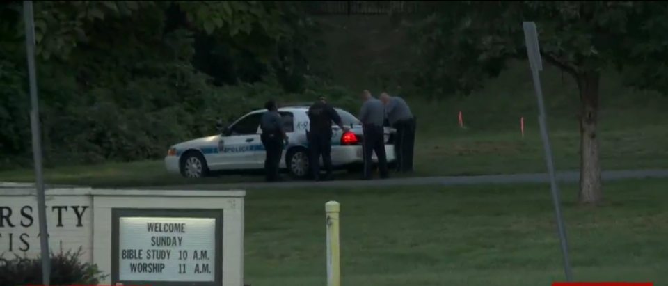 University of Maryland crime scene. (WUSA9/Screenshot)