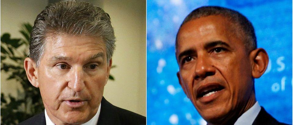 Sen. Joe Manchin: Jonathan Ernst/Reuters, Pres. Obama: Kevin Lamarque/Reuters