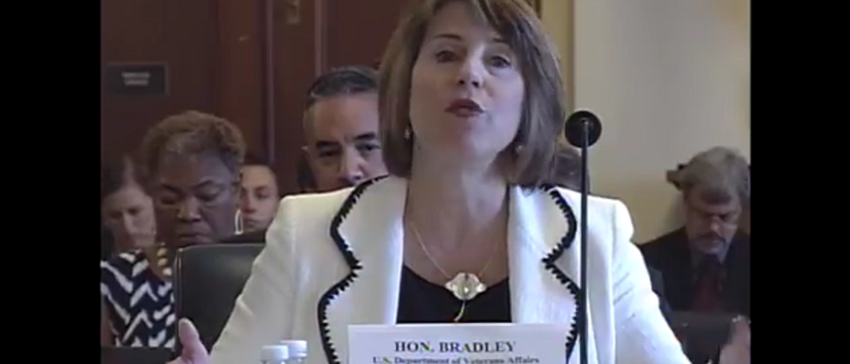 Leigh Bradley General Counsel, U.S. Department of Veterans Affairs. Screenshot: https://www.youtube.com/watch?v=1woZ47CTCTM