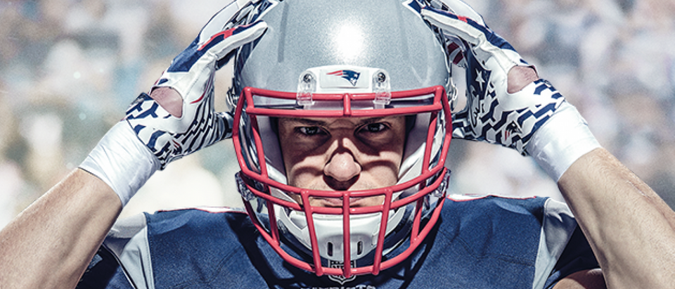 Gronk is on the cover of Madden 17 (Photo via Amazon/EA Sports)