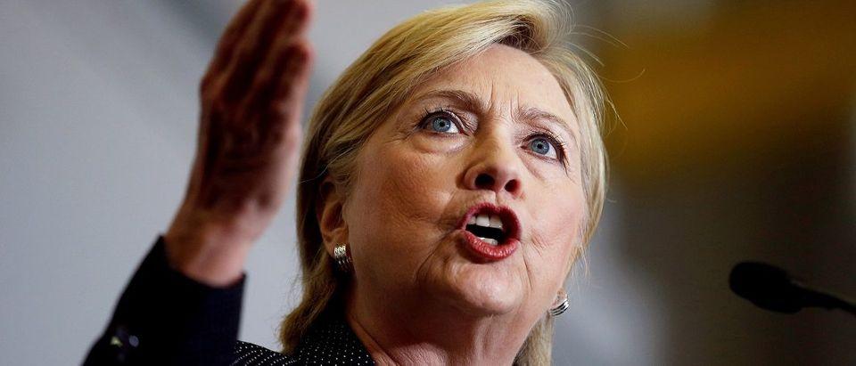 U.S. Democratic presidential nominee Hillary Clinton speaks at Futuramic Tool & Engineering in Warren, Michigan August 11, 2016. REUTERS/Chris Keane.