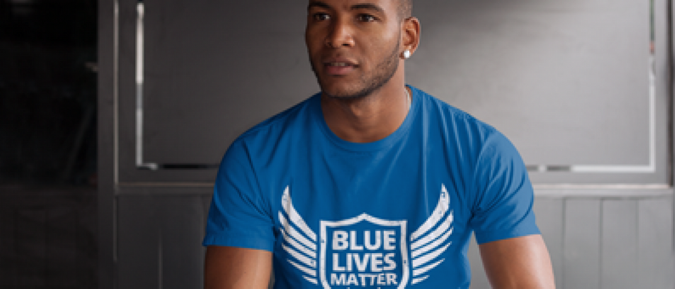 Make the statement that Blue Lives Matter with one of these shirts (Placeit)