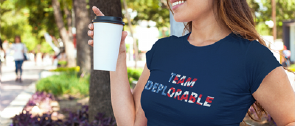 Think she's deplorable? Join her by getting a shirt! (Placeit)