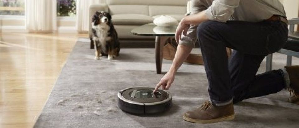 The robotic vacuum cleaner called Roomba (Photo via Amazon)
