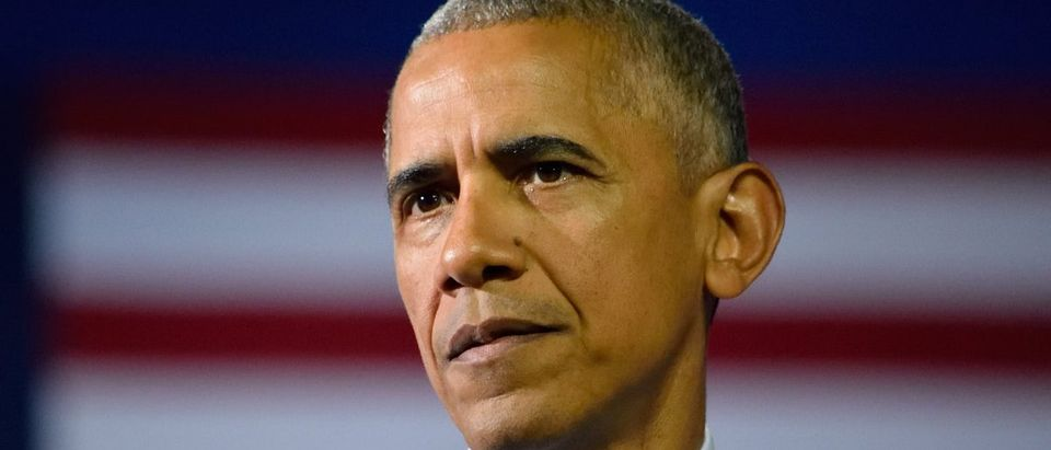 President Barack Obama with a solemn face while delivering a speech at the Charlotte Convention Center