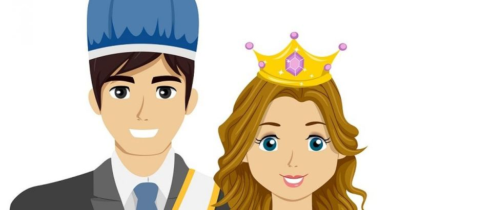 Homecoming king and queen. [Shutterstock/Lorelyn Medina]
