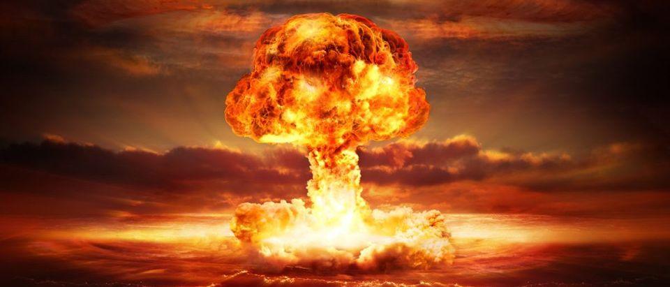 Nuclear explosion on the ocean