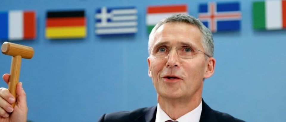 NATO Secretary-General Stoltenberg chairs a NATO defence ministers meeting in Brussels