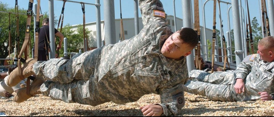 Army Soldier Demonstrates Fitness Program