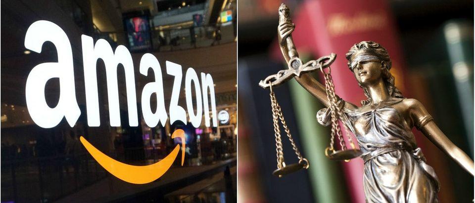 Amazon: Eric Broder Van Dyke/Shutterstock.com, Statue of Justice: sebra/Shutterstock.com