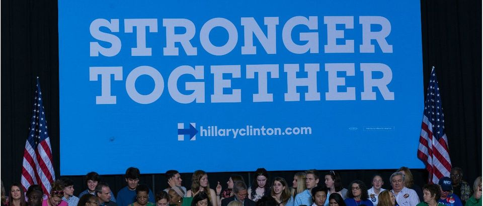 Clinton Campaign Sign: George Sheldon/shutterstock