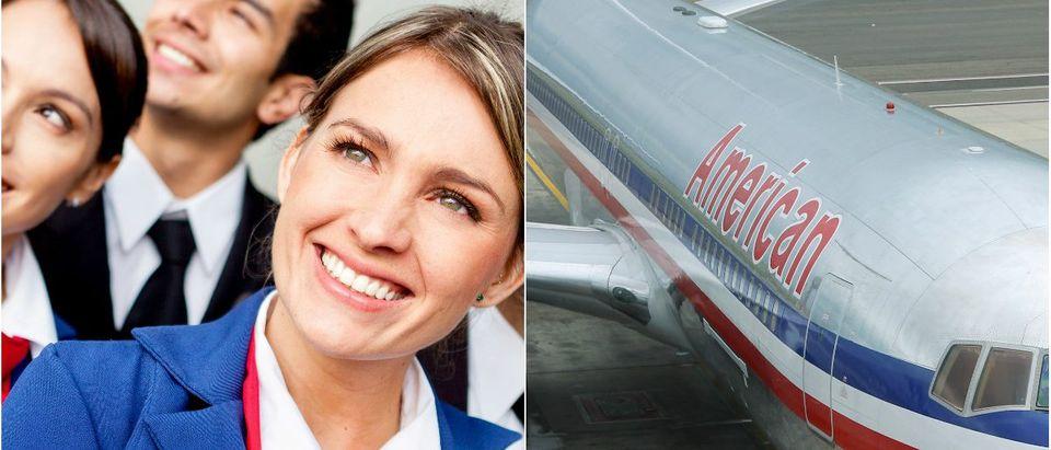 Flight Attendant: Andresr/shutterstock.com, American Airlines: Tupungato/shutterstock.com