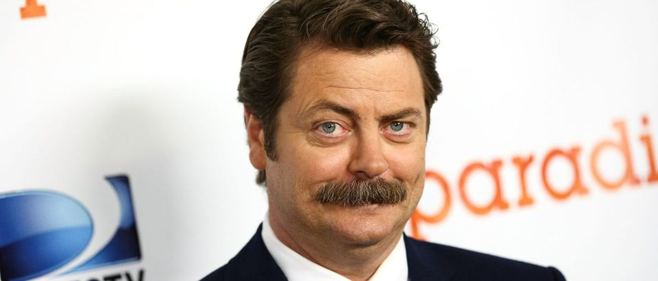 Actor Nick Offerman attends the premiere of DirecTV's 'Paradise' at Mann Chinese 6 on August 6, 2013 in Los Angeles