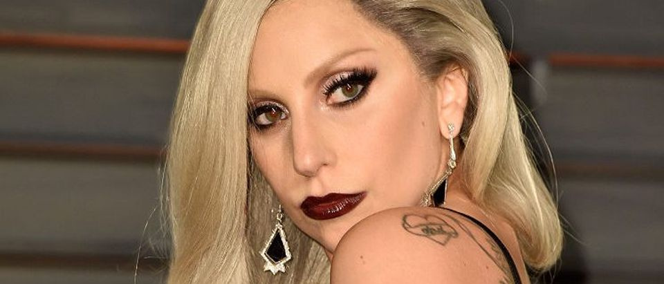 Recording artist Lady Gaga attends the 2015 Vanity Fair Oscar Party hosted by Graydon Carter at Wallis Annenberg Center for the Performing Arts on February 22, 2015 in Beverly Hills, California