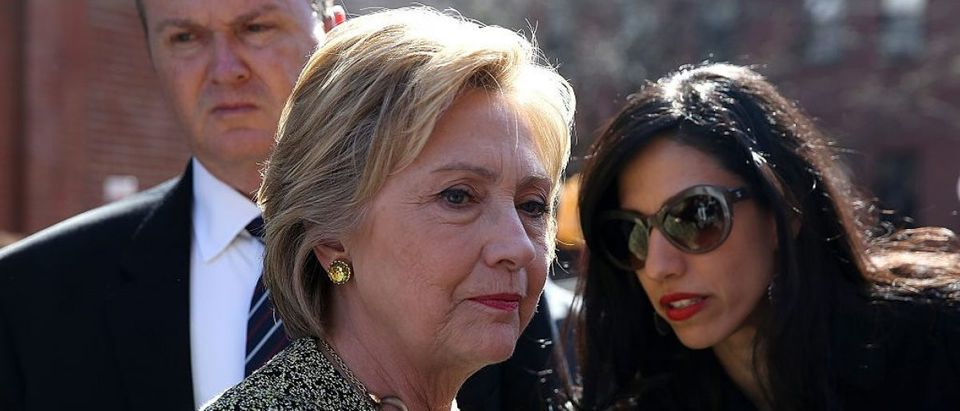Hillary Clinton and Huma Abedin (Getty Images)