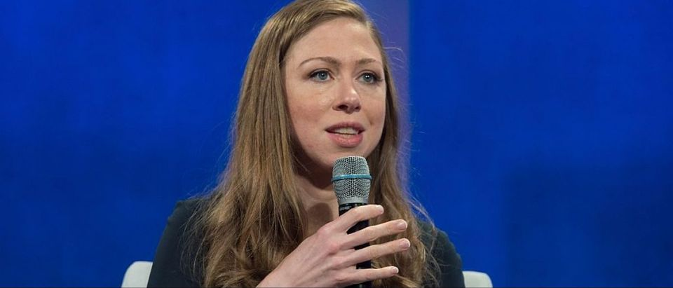 Clinton Foundation Vice Chair Chelsea Clinton speaks during the Plenary Session: Girl, Uninterrupted: Increasing Opportunity During Adolescence at the Clinton Global Initiative September, 20, 2016 in New York. (BRYAN R. SMITH/AFP/Getty Images)