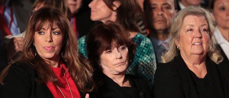 Paula Jones at the second presidential debate in St. Louis