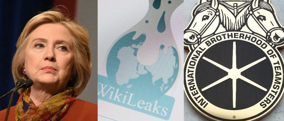 Hillary Clinton: a katz/shutterstock.com, Wikileaks: Haak78/shutterstock.com, Teamsters: Mark Van Scyoc/shutterstock.com