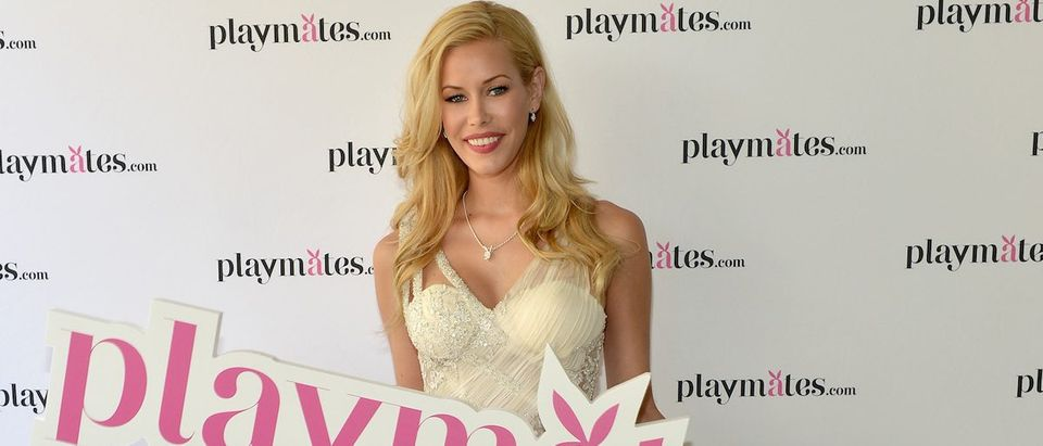 2014 Playmate Of The Year Kennedy Summers attends Playboy's 2014 Playmate Of The Year Announcement and Reception at The Playboy Mansion on May 15, 2014 in Holmby Hills, California