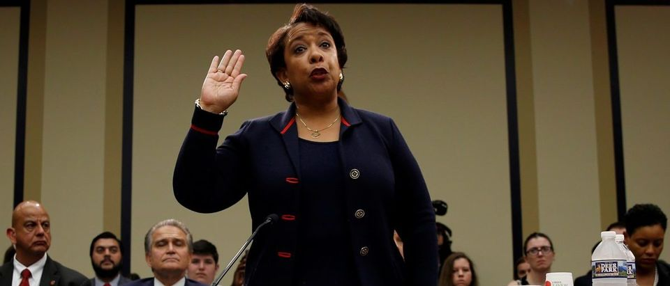 Lynch is sworn in to testify before a House Judiciary Committee hearing on Capitol Hill in Washington, U.S.