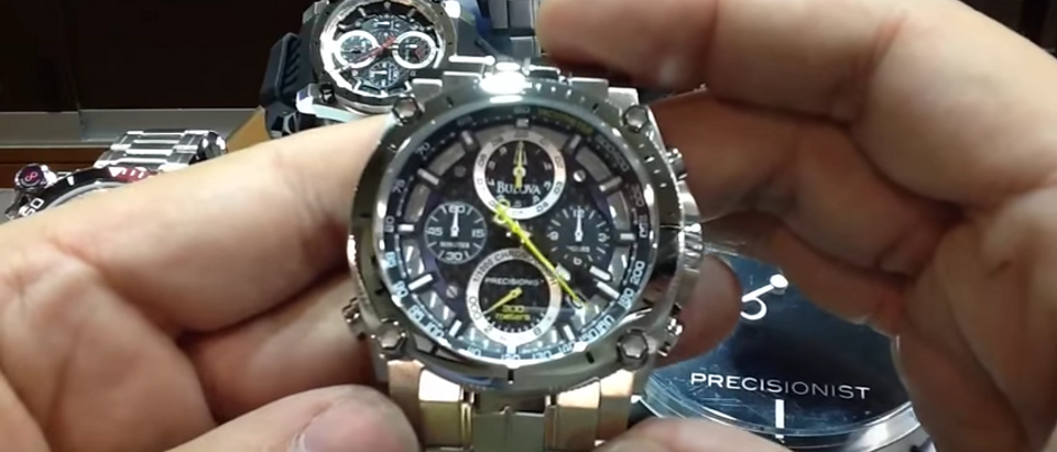 This Bulova Precisionist is on sale (YouTube Screenshot)