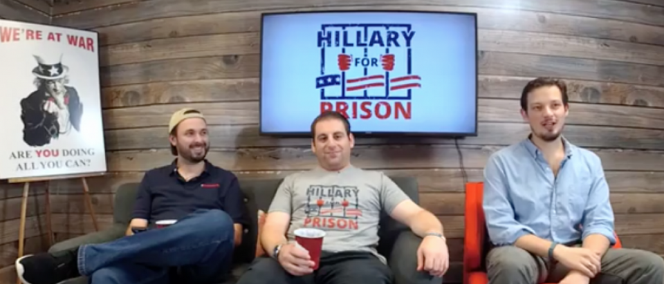 Get your very own Hillary for Prison shirt or sweatshirt (FB Live)