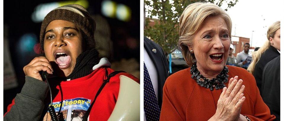 Erica Garner, Hillary Clinton (Getty Images)