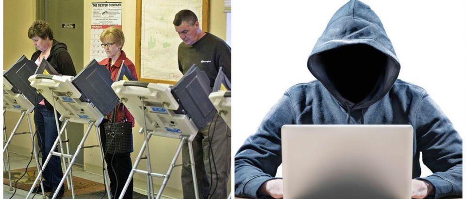 voting-hacker Left: [BRENDAN SMIALOWSKI/AFP/Getty Images]