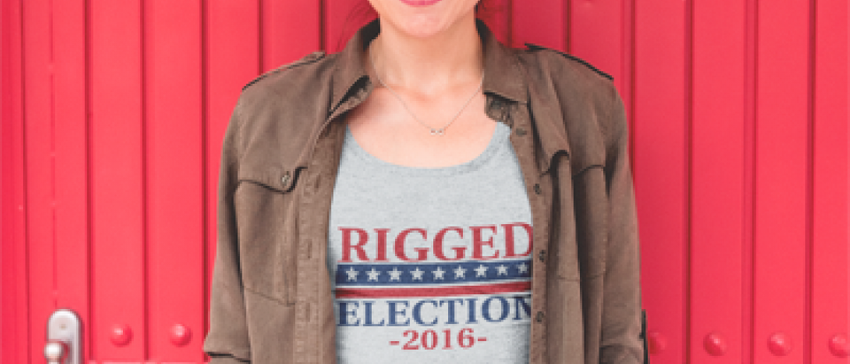 This girl seems to think the election is rigged (Placeit)