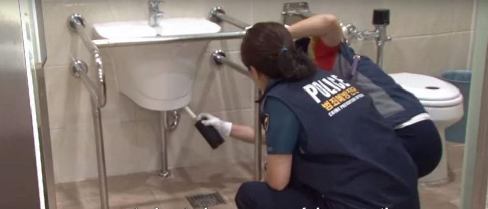 South Korean police scan restroom for cameras