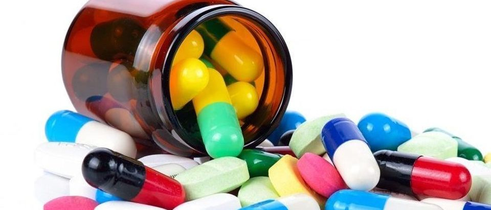 Tablets pills heap color mix therapy drugs doctor flu antibiotic pharmacy medicine medical