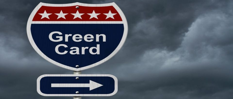 Green card ... this way (Shutterstock)