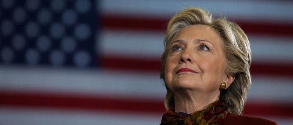 U.S. Democratic presidential nominee Hillary Clinton attends a campaign rally accompanied by vice presidential nominee Senator Tim Kaine in Pittsburgh
