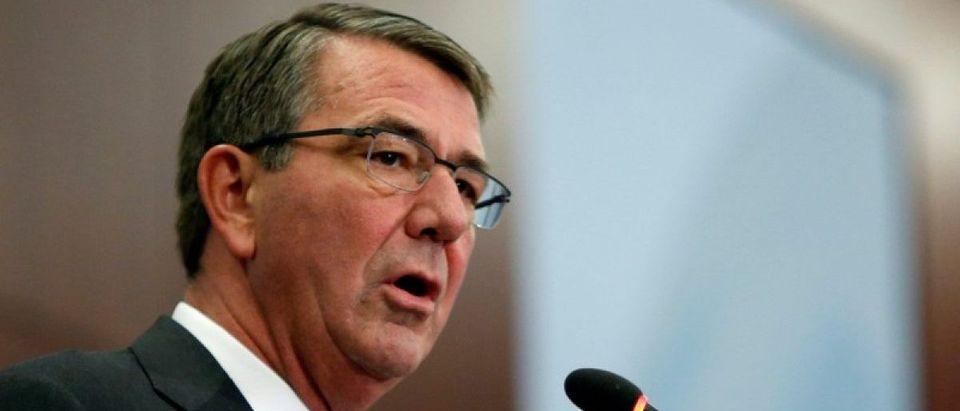 U.S. Defense Secretary Carter speaks at the Center for Strategic and International Studies in Washington