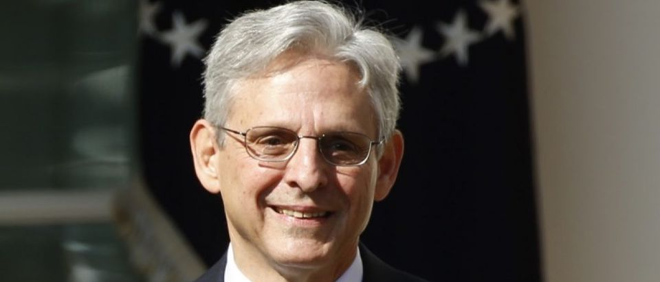 File photo of Appeals Court Judge Merrick Garland speaking in the Rose Garden of the White House after being nominated by President Barack Obama in Washington