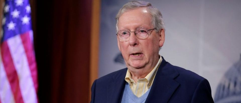 Senate Majority Leader Mitch McConnell speaks about the election of Donald Trump in the U.S. presidential election in Washington
