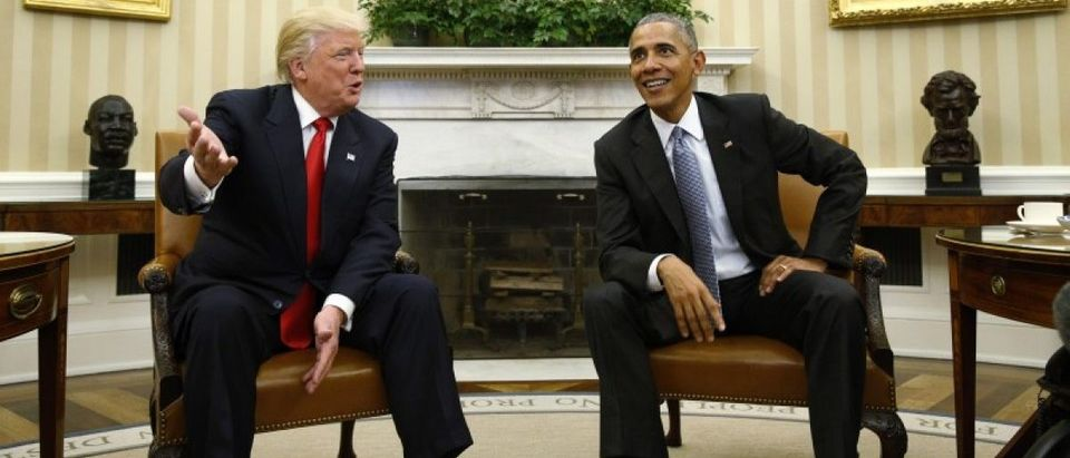 President Obama meets with President-elect Trump at the White House in Washington